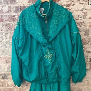 Vintage Lavon Windbreaker Track Suit W/ Pants